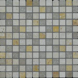 Mix Travertine 1x1 Travertine Tumbled Mosaic Tile