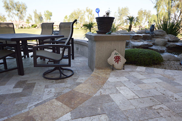 Mix Travertine Paver 6x12 Tumbled 10 Tan Brown Beige Cream Outdoor Floor Wall Pool Patio Backyard Tub Shower Vanity QDIsurfaces