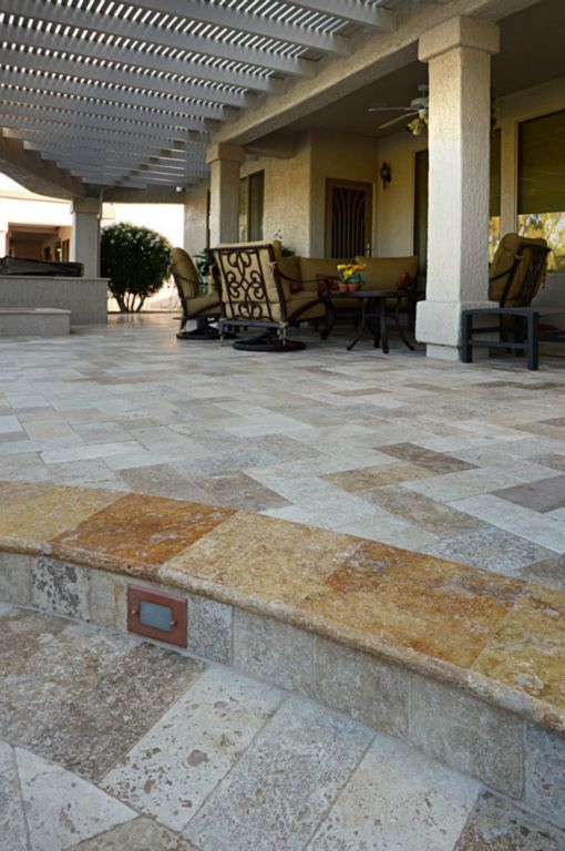 Mix Travertine Paver 6x12 Tumbled 12 Tan Brown Beige Cream Outdoor Floor Wall Pool Patio Backyard Tub Shower Vanity QDIsurfaces