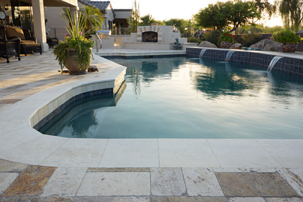 Mix Travertine Paver 6x12 Tumbled 19 Tan Brown Beige Cream Outdoor Floor Wall Pool Patio Backyard Tub Shower Vanity QDIsurfaces