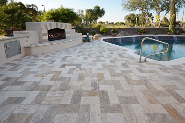 Mix Travertine Paver 6x12 Tumbled 24 Tan Brown Beige Cream Outdoor Floor Wall Pool Patio Backyard Tub Shower Vanity QDIsurfaces