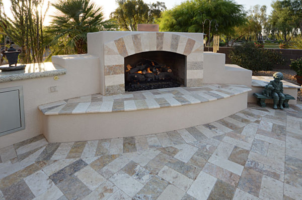 Mix Travertine Paver 6x12 Tumbled 25 Tan Brown Beige Cream Outdoor Floor Wall Pool Patio Backyard Tub Shower Vanity QDIsurfaces