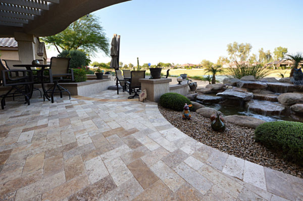 Mix Travertine Paver 6x12 Tumbled 7 Tan Brown Beige Cream Outdoor Floor Wall Pool Patio Backyard Tub Shower Vanity QDIsurfaces