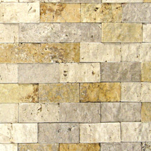 Mix Travertine Split Face Tile Tan Brown Beige Cream Indoor Outdoor Wall Backsplash Tub Shower Vanity QDIsurfaces