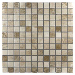 Light Mix 1x1 Marble Polished Mosaic Tile
