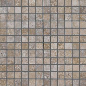 QDI Noce 1x1 Travertine Filled & Honed Mosaic Tile