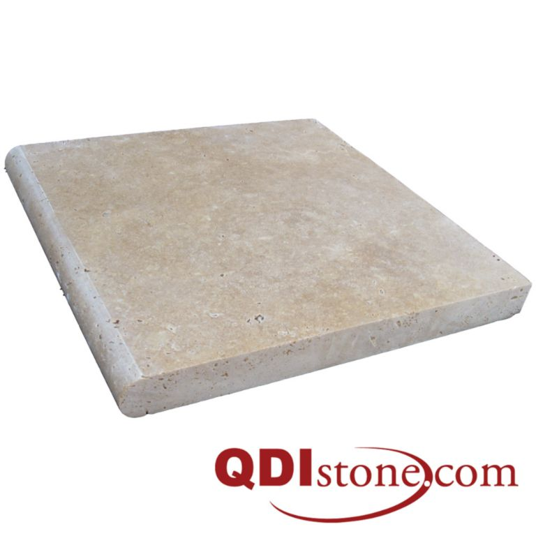 Noce Travertine Pool Coping 12x12 3cm Honed Beige Cream Tan Brown Gray White Outdoor Floor Wall