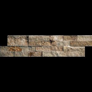 QDI Noce Travertine Split Face Tile 2-Size 6x24 Pattern Beige Cream Tan Brown Gray White Indoor Outdoor Wall Backsplash Tub Shower Vanity QDIsurfaces