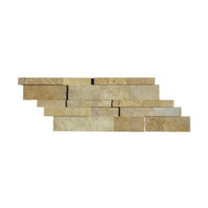 Noce Travertine Stack Stone Wall Cladding Panel Z Pattern Honed Beige Cream Tan Brown Gray White Indoor Outdoor Wall Backsplash Tub Shower