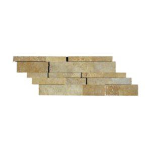 Noce Travertine Stack Stone Wall Cladding Panel Z Pattern Honed Beige Cream Tan Brown Gray White Indoor Outdoor Wall Backsplash Tub Shower