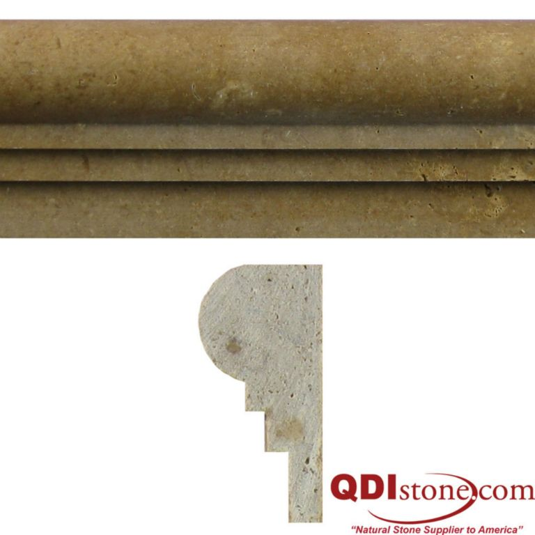 NOCE Travertine Trim Tile | QDI Surfaces