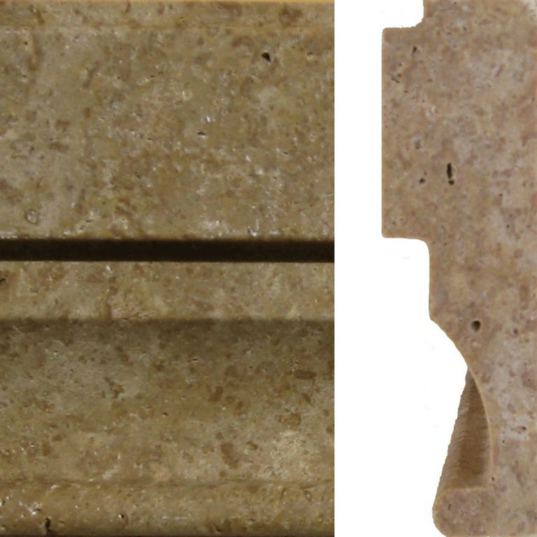 Noce Travertine Trim Tile Milan Ogee Molding 4x12 Honed Beige Cream Tan Brown Gray White Indoor