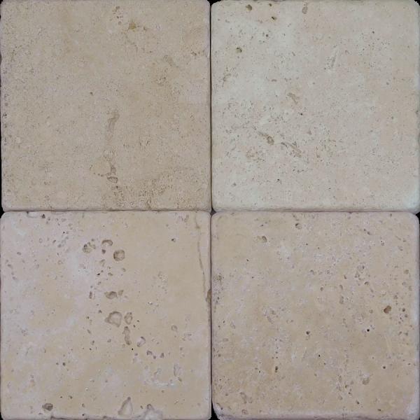 Nysa Travertine Tile 4x4 Tumbled