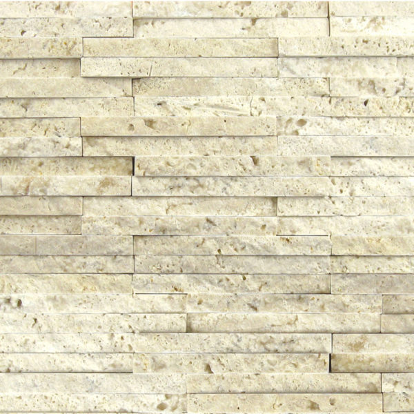 Nysa Travertine Mosaic Tile 58x4 Split Face Beige Cream Indoor Floor Wall Backsplash Countertop Tub Shower Vanity QDIsurfaces