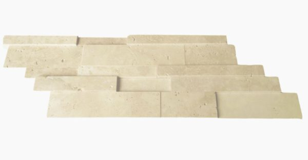 Nysa Travertine Mosaic Tile Z Pattern Honed Beige Cream Indoor Floor Wall Backsplash Countertop Tub Shower