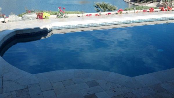 Nysa Travertine Paver 3pc Roman Pattern Tumbled 7 Tan Brown Beige Cream Outdoor Floor Wall Pool Patio Backyard Tub Shower Vanity QDIsurfaces