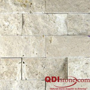 Nysa Travertine Split Face Tile 2x4 Split Face Beige Cream Indoor Outdoor Wall Backsplash Tub Shower Vanity QDIsurfaces