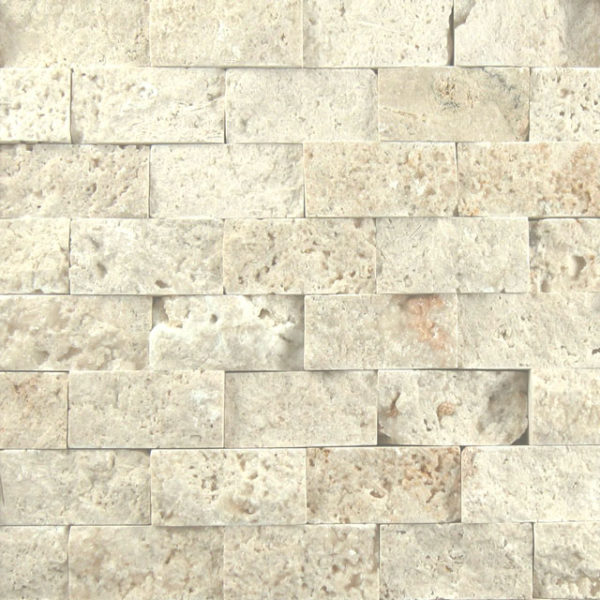 Nysa Travertine Split Face Tile Beige Cream Indoor Outdoor Wall Backsplash Tub Shower Vanity QDIsurfaces