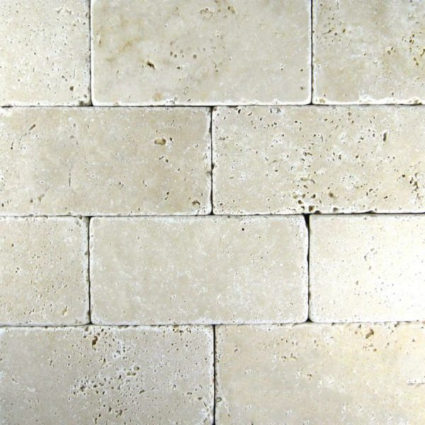 Nysa Travertine Tile 3x6 Tumbled Beige Cream Interior Indoor Wall Backsplash Countertop Tub Shower Vanity QDIsurfaces