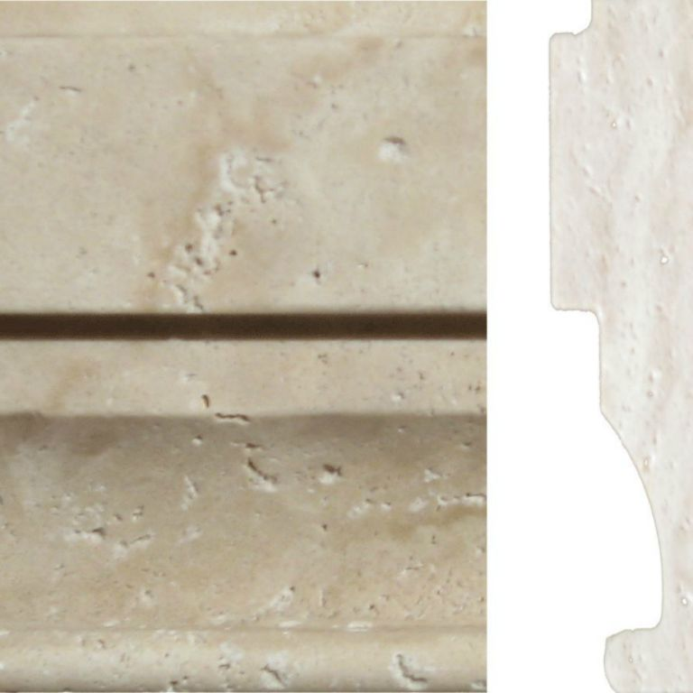 Nysa Travertine Trim Tile Milan Ogee Molding 4x12 Honed Beige Cream Indoor Wall Backsplash Tub Shower