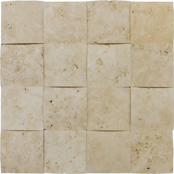 Nysa Travertine Tile 4x4 3-D Unfilled Honed