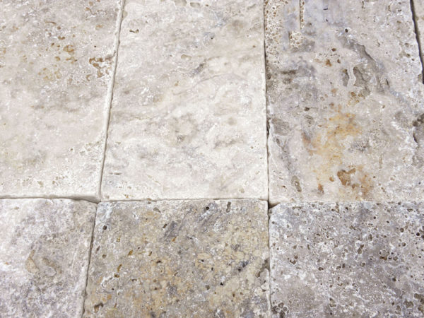 Philadelphia Travertine Paver 6x12 3cm Tumbled 2 Tan Brown Gray White Outdoor Floor Wall Pool Patio Backyard Tub Shower Vanity QDIsurfaces