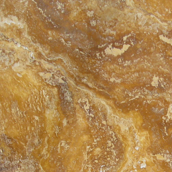 QDI Gold Travertine Tile 18x18 Filled Honed Beige Cream Tan Brown Yellow Gold Gray White Indoor Floor Wall Backsplash Counter Tub Shower Vanity