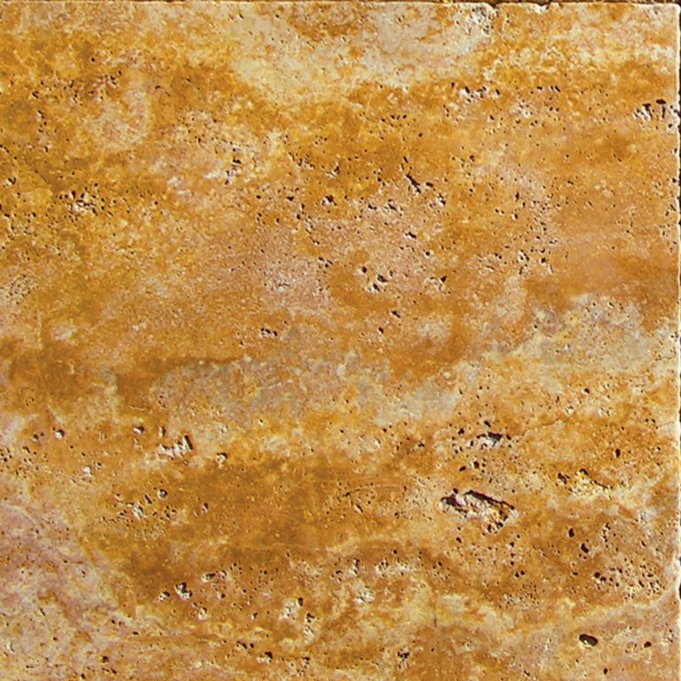 QDI Gold Travertine Tile 18x18 Tumbled Beige Cream Tan Brown Yellow Gold Gray White Indoor Floor Wall Backsplash Countertop Tub Shower Vanity