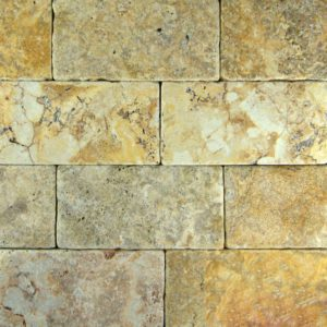 QDI Gold Travertine Tile 3x6 Tumbled Beige Cream Tan Brown Yellow Gold Gray White Indoor Floor Wall Backsplash Countertop Tub Shower Vanity QDI