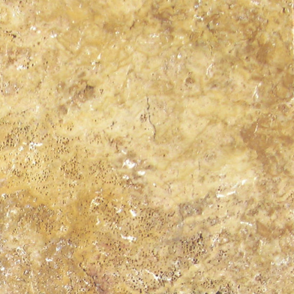 QDI Gold Travertine Tile 6x6 Tumbled Beige Cream Tan Brown Yellow Gold Gray White Indoor Floor Wall Backsplash Countertop Tub Shower Vanity QDI