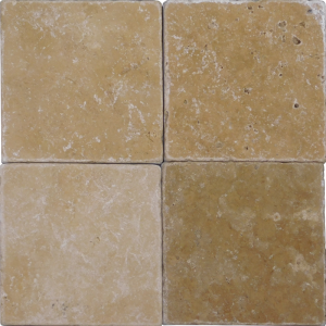 QDI Noce 4x4 Tumbled Travertine Mosaic Tile