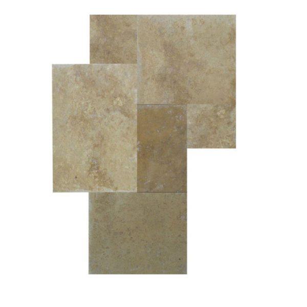 QDI Noce Travertine Tile Versailles Pattern Fillled Honed Beige Cream Tan Brown Gray White Floor Wall Backsplash Counter Tub Shower Vanity QDI