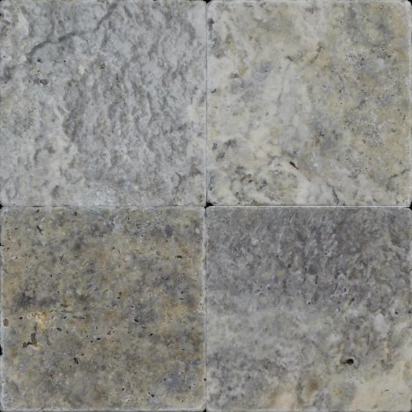 QDI Silver 6x6 Tumbled Travertine Mosaic Tile