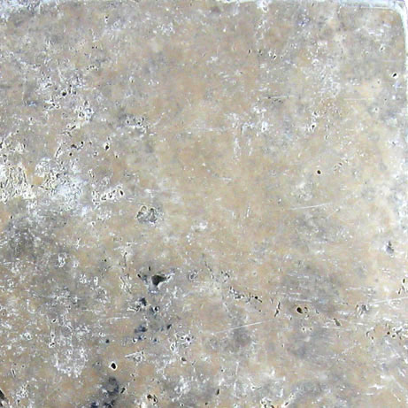 QDI Silver Travertine Tile 4x4 Tumbled Beige Cream Gray White Indoor Floor Wall Backsplash Countertop Tub Shower Vanity QDIsurfaces