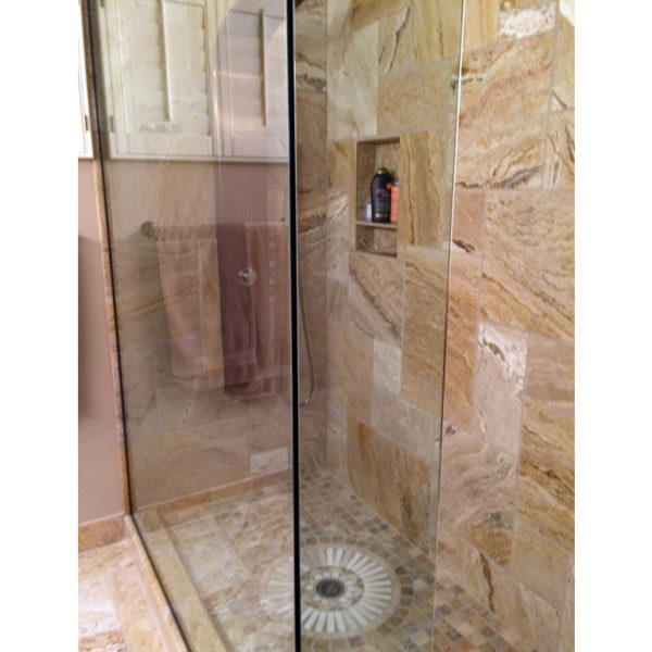 Riviera Travertine Mosaic Tile 2x2 Filled Honed Tan Brown Beige Cream Gray White Indoor Floor Wall Backsplash Countertop Tub Shower QDI