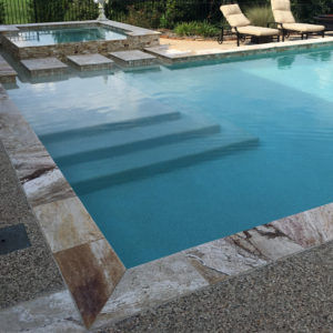 Riviera Travertine Pool Coping 12x24 3cm Honed 3 Tan Brown Beige Cream Gray White Outdoor Floor Wall Pool Patio Backyard Tub Shower Vanity