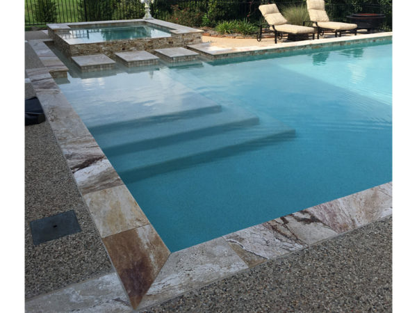Riviera Traverine Single Bullnose Pool Coping Qdisurfaces