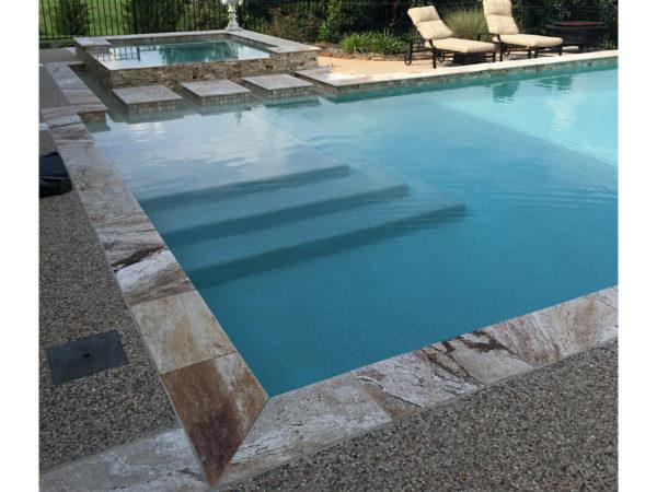 Riviera Travertine Pool Coping 12x24 3cm Honed 3 Tan Brown Beige Cream Gray White Outdoor Floor Wall Pool Patio Backyard Tub Shower Vanity