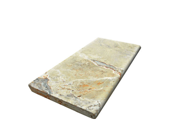 Riviera Travertine Pool Coping 12x24 3cm Honed 4 Tan Brown Beige Cream Gray White Outdoor Floor Wall Pool Patio Backyard Tub Shower Vanity