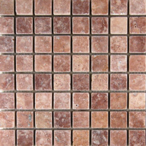 Rojo Marble Mosaic Tile Red Pink Indoor Floor Wall Backsplash Tub Shower Vanity QDIsurfaces