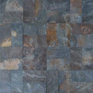 Rustic Slate Paver Tan Brown Blue Gray White Outdoor Floor Wall Pool Patio Backyard Tub Shower Vanity QDIsurfaces