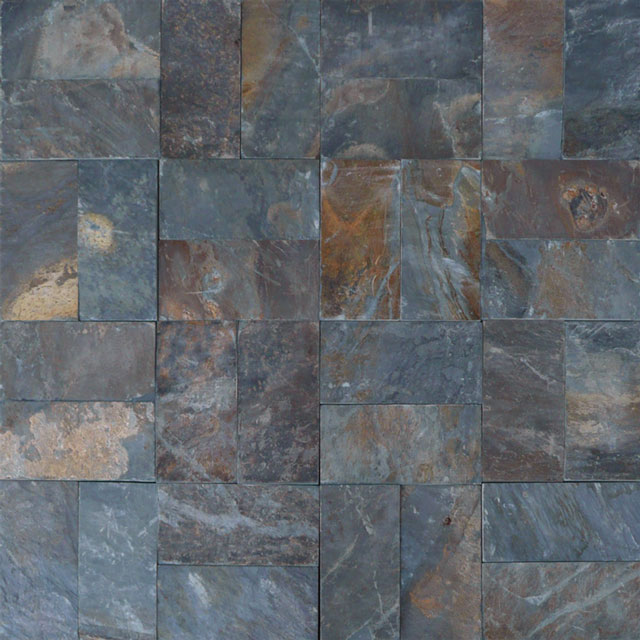 Rustic Slate Paver Tan Brown Blue Gray White Outdoor Floor Wall Pool Patio Backyard Tub Shower Vanity QDIsurfaces