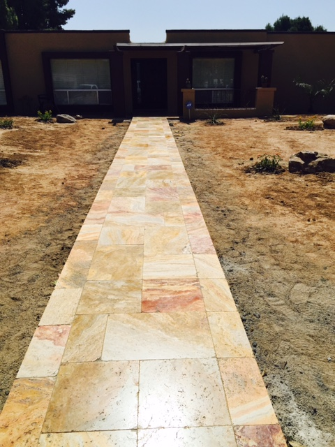 Sedona Fantastico Travertine Paver Versailles Pattern Tumbled 3 Tan Brown Beige Cream Red Pink White Gray Outdoor Floor Wall Pool