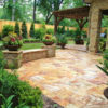 Sedona Fantastico Travertine Paver Versailles Pattern Tumbled 36 Tan Brown Beige Cream Red Pink White Gray Outdoor Floor Wall Patio