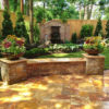 Sedona Fantastico Travertine Paver Versailles Pattern Tumbled 38 Tan Brown Beige Cream Red Pink White Gray Outdoor Floor Backyard