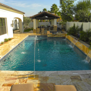 Sedona Fantastico Travertine Paver Versailles Pattern Tumbled 4 Tan Brown Beige Cream Red Pink White Gray Outdoor Floor Wall Pool