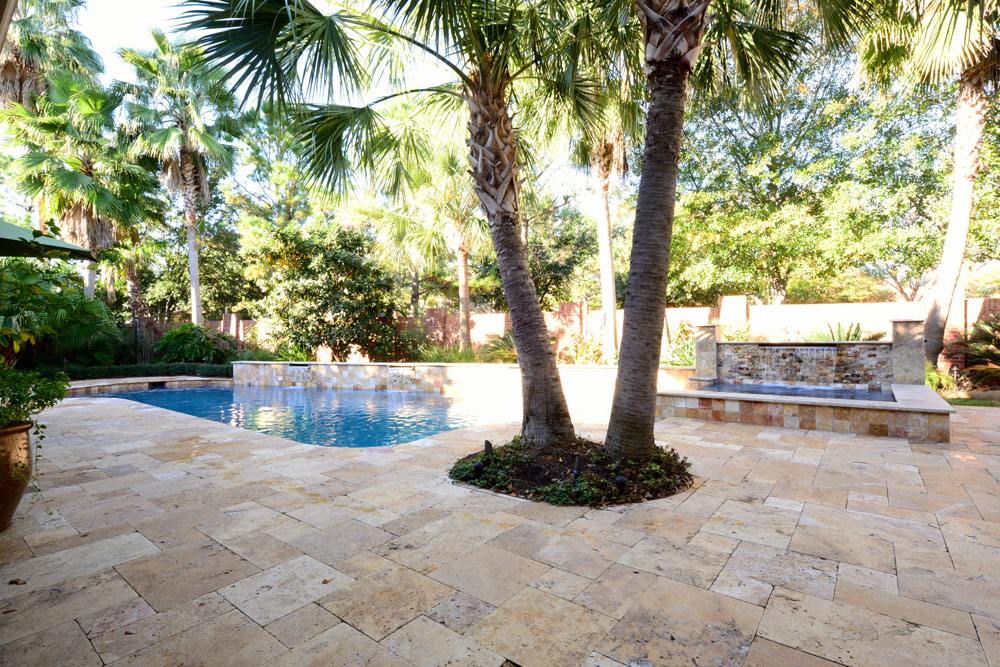 Sedona Fantastico Travertine Paver Versailles Pattern Tumbled 48 Tan Brown Beige Cream Red Pink White Gray Outdoor Floor Wall Pool