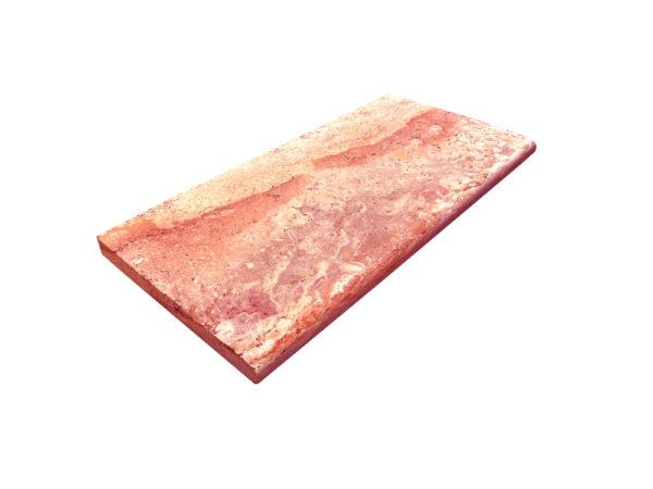 Sedona Fantastico Travertine Pool Coping 12x24 2 Honed Tan Brown Beige Cream Red Pink White Gray Outdoor Floor Wall Pool Patio