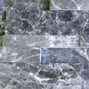 Silver Marble Stack Stone Gray Black White Indoor Outdoor Wall Backsplash Tub Shower Vanity QDIsurfaces