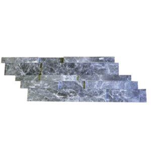Silver Marble Stack Stone Z Pattern Honed Gray Black White Indoor Outdoor Wall Backsplash Tub Shower Vanity QDIsurfaces